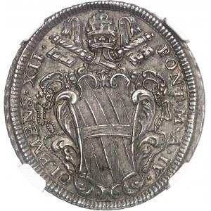 Vatican, Clément XII (1730-1740). Demi-piastre An IV (1734), Rome.