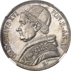 Vatican, Grégoire XVI (1831-1846). Scudo 1845 - An XV, Rome.