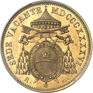 Vatican, Siège vacant, cardinal Riario-Sforza (1846). 5 scudi 1846, R, Rome.