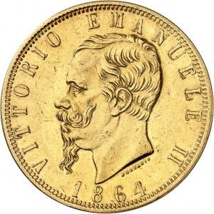 Victor-Emmanuel II (1861-1878). 100 lire 1864, T, Turin.