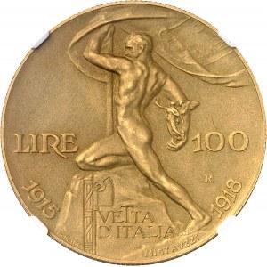 Victor-Emmanuel III (1900-1946). 100 lire, Jubilé d'argent, 25 ans du couronnement, flan mat 1925, R, Rome.