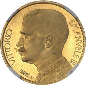 Victor-Emmanuel III (1900-1946). Essai de 50 lire à l'agriculture assise par S. Johnson, Flan bruni (PROOF) 1907, Milan (Johnson).