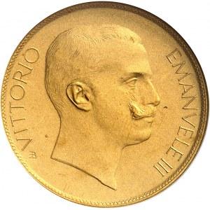 Victor-Emmanuel III (1900-1946). Essai de 20 lire avec Minerve et l'Agriculture en bronze doré par S. Johnson, Flan bruni (PROOF) 1903, Milan (Johnson).