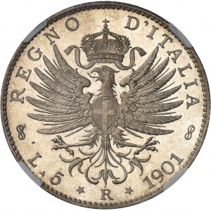 Victor-Emmanuel III (1900-1946). 5 lire aspect Flan bruni (PROOFLIKE) 1901, R, Rome.