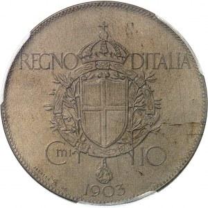 Victor-Emmanuel III (1900-1946). Essai de 10 centimes par S. Johnson 1903, Milan (Johnson).