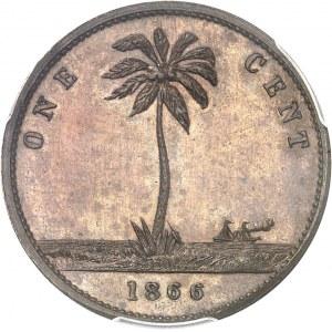 République indépendante du Liberia (depuis 1847). Essai de 1 cent 1866.