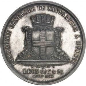 Second Empire / Napoléon III (1852-1870). Jeton de la Compagnie générale de navigation à hélice Léon Gay et Compagnie par Aumoitte 1853, Paris (Stern).