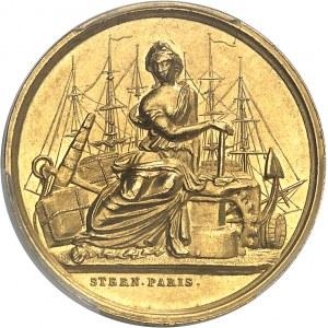 Second Empire / Napoléon III (1852-1870). Jeton en Or du Comptoir de la Méditerranée, Gay Bazin et Compagnie 1856, Paris (Stern).