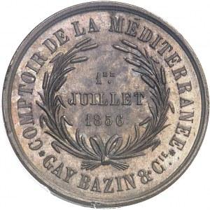 Second Empire / Napoléon III (1852-1870). Jeton du Comptoir de la Méditerranée, Gay Bazin et Compagnie 1856 (1860-1879), Paris (Stern).