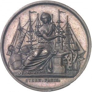Second Empire / Napoléon III (1852-1870). Épreuve uniface d'avers du jeton du Comptoir de la Méditerranée, Gay Bazin et Compagnie 1856 (1860-1879), Paris (Stern).