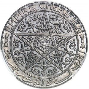 Moulay Yussef (1330-1346 AH / 1912-1927). Essai de 1 franc ND (AH 1340 = 1921), Poissy (éclair).