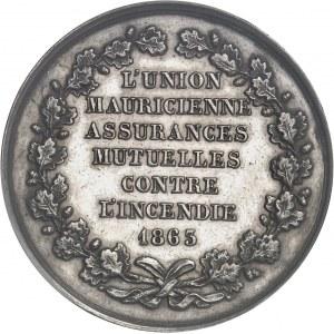 Second Empire / Napoléon III (1852-1870). Jeton de l'Union Mauricienne, assurances mutuelles contre l'incendie 1863, Paris.
