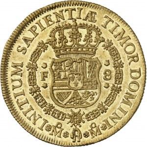 Philippe V (1700-1746). 8 escudos 1732 F, M°, Mexico.