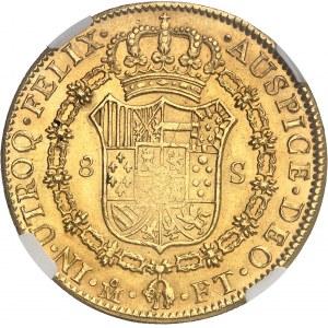 Charles IV (1788-1808). 8 escudos 1802 FT, M°, Mexico.