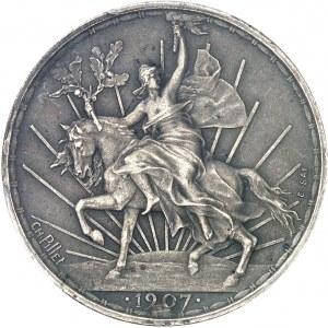 République du Mexique (1821-1917). Essai de 50 centavos par Charles Pillet 1907, Paris.