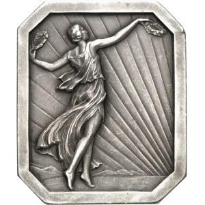 Louis II (1922-1949). Médaille, XXIe concours d'élégance automobile de Monte-Carlo, de chez Fraisse et Demey 1929, Paris (Fraisse-Demey éd.).
