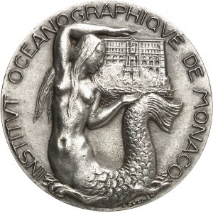 Louis II (1922-1949). Médaille, l'Institut océanographique de Monaco et les 45 années comme directeur de Jules Richard par Aleth Guzman 1945, Paris.