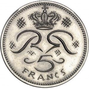 Rainier III (1949-2005). Pré-série de 5 francs par R. Joly 1970, Paris.
