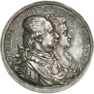 Guillaume V, stathouder général des Provinces-Unies (1751-1795). Médaille, Guillaume V et sa famille par J. H. Schepp 1787, Francfort-sur-le-Main.
