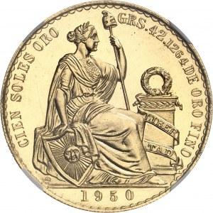 Pérou, République du (depuis 1821). Cent soles, aspect Flan bruni (PROOFLIKE) 1950, Lima.