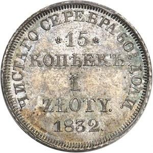Nicolas Ier (1825-1855). 15 kopecks ou zloty 1832, Saint-Pétersbourg.