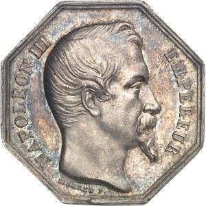 Second Empire / Napoléon III (1852-1870). Jeton de la Banque de l'île de la Réunion ND (1852-1860), Paris.