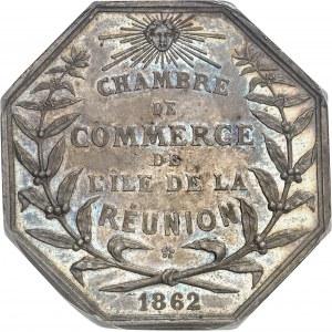 Second Empire / Napoléon III (1852-1870). Jeton de la Chambre de Commerce  de l'île de la Réunion 1862, Paris (Stern).