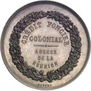 Second Empire / Napoléon III (1852-1870). Jeton du Crédit foncier colonial, agence de la Réunion ND (1863-1879), Paris.