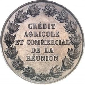 Second Empire / Napoléon III (1852-1870). Jeton du Crédit agricole et commercial de la Réunion 1864, Paris.