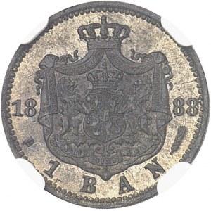 Charles Ier de Roumanie (1866-1914). Essai de 1 banu 1888, B, Bucarest.
