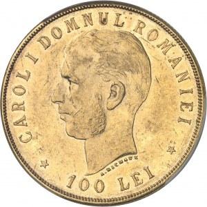 Charles Ier de Roumanie (1866-1914). 100 lei, 40e anniversaire de règne 1906, Bruxelles.
