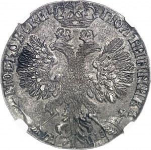 Pierre Ier le Grand (1689-1725). Demi-rouble ou poltina, aigle large ND (1707), Kadashevsky.