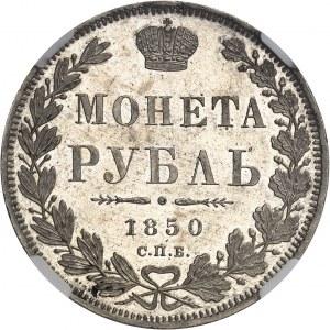 Nicolas Ier (1825-1855). Rouble, aspect Flan bruni (PROOFLIKE) 1850, Saint-Pétersbourg.
