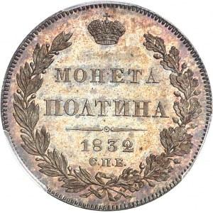 Nicolas Ier (1825-1855). Demi-rouble ou poltina 1832, Saint-Pétersbourg.