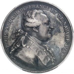 Louis XVI (1774-1792). Jeton du Cercle des Philadelphes, société savante de Saint-Domingue 1788, Paris.