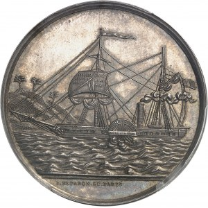 Second Empire / Napoléon III (1852-1870). Jeton de la Compagnie de remorquage du Sénégal ND (1860-1879), Paris.