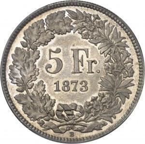 Confédération Helvétique (1848 à nos jours). 5 francs 1873, B, Berne.