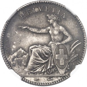 Confédération Helvétique (1848 à nos jours). 1 franc 1850, A, Paris.