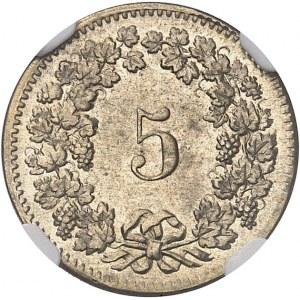 Confédération Helvétique (1848 à nos jours). 5 rappen 1850.