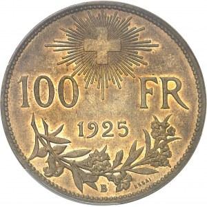 Confédération Helvétique (1848 à nos jours). Essai de 100 francs tranche lisse 1925, B, Berne.