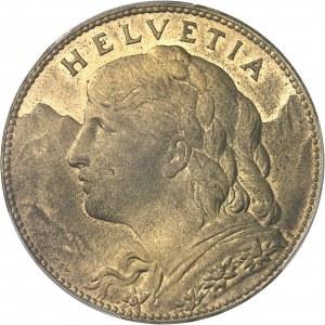 Confédération Helvétique (1848 à nos jours). Essai de 100 francs tranche inscrite en relief 1925, B, Berne.