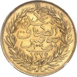 Mohamed el-Sadik Bey (1859-1882). 100 piastres Or AH 1279 (1862), Tunis.