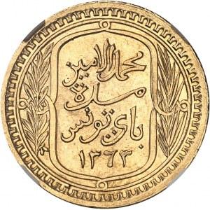 Mohamed Lamine Bey (1943-1957). Module de 100 francs 1943 - AH 1363, Paris.