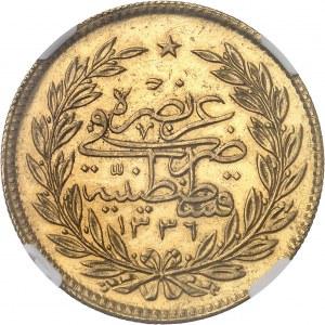 Mehmed VI (1918-1922). 500 kurush AH 1336/5 (1922), Constantinople.