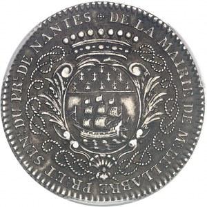 Amérique-Canada (colonies françaises), Louis XV (1715-1774). Jeton de Mathurin Bellabre, Maire de Nantes, aux Amérindiens par Duvivier 1748, Paris.
