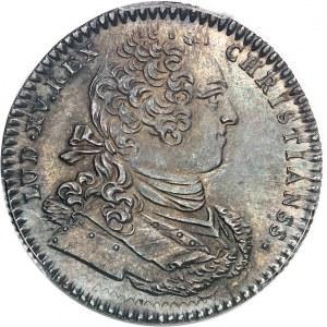 """Amérique-Canada (colonies françaises), Louis XV (1715-1774). Jeton """"NON INFERIORA METALLIS"""" frappe monnaie par C.-N. Roëttiers 1754, Paris."""