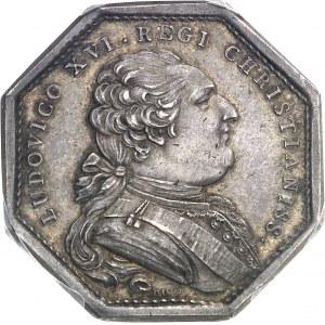 Louis XVI (1774-1792). Jeton, don du clergé pour la flotte d'aide aux indépendantistes américains, 1er type par Duvivier 1782, Paris.