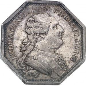 Louis XVI (1774-1792). Jeton, don du clergé pour la flotte d'aide aux indépendantistes américains, 4e type par Duvivier 1782, Paris.
