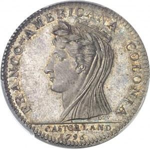 Castorland (1792-1800). Jeton d'un 1/2 dollar, frappe postérieure avec coins d'origine 1796 (1845-1860), Paris.