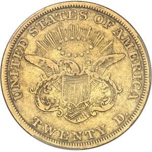 République fédérale des États-Unis d'Amérique (1776-à nos jours). 20 dollars Liberty, sans devise 1850, Philadelphie.